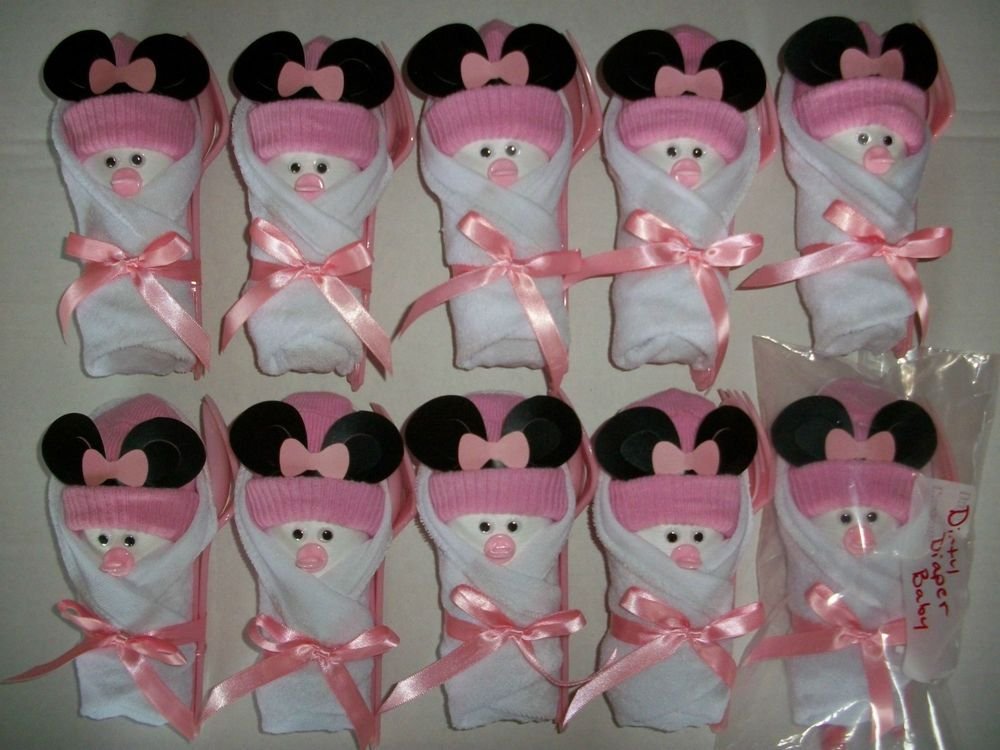 Baby Washclothes Instead Of Napkins | Shower Ideas | Pinterest | Minnie  Mouse Baby Shower, Babyshower And Minnie Mouse