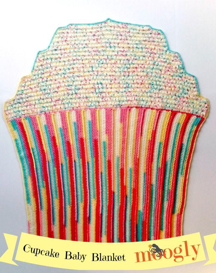 Cupcake Baby Blanket - free crochet pattern on Mooglyblog.com ...