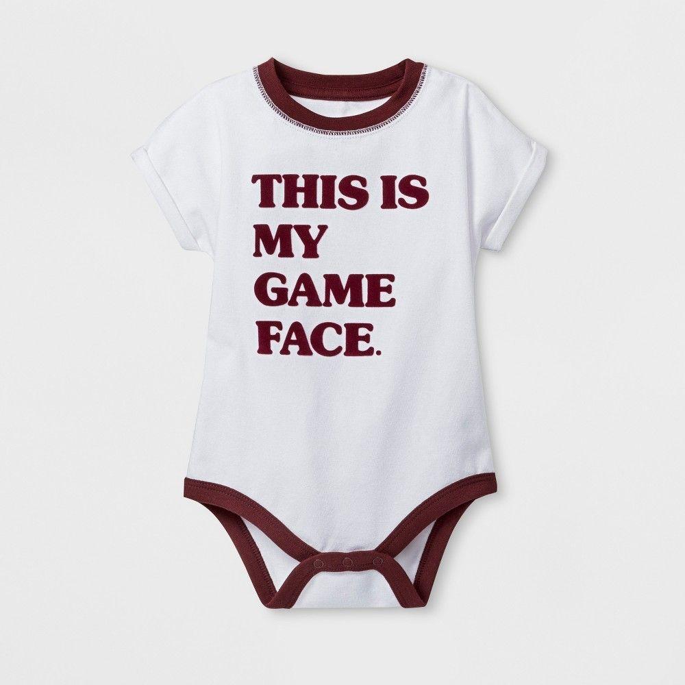 Baby Boys  Short Sleeve Bodysuit - Cat   Jack White Newborn ... 01f2c1e0a