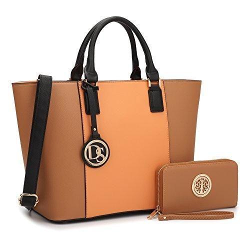 Dasein Women S Designer Large Laptop Top Handle Structured Tote Bag Satchel Handbag Shoulder Purse