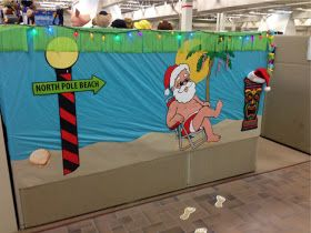 Surfing Santa Hawaiian Office Christmas Decorations With Images