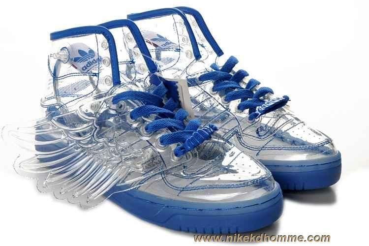 Adidas X Jeremy Scott Wings Clear Chaussures Bleu sortie