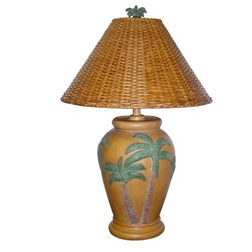 Delightful Tropical Light Tea Table Lamp With Rattan Shade Papila Design Accent Lamp  Table Lamps Lamp