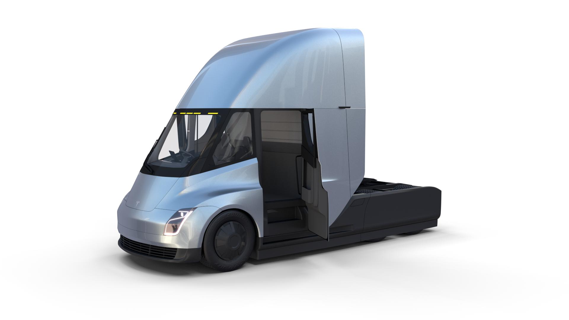 Tesla Truck With Interior Silver Tesla Trucks Tesla Semi Truck