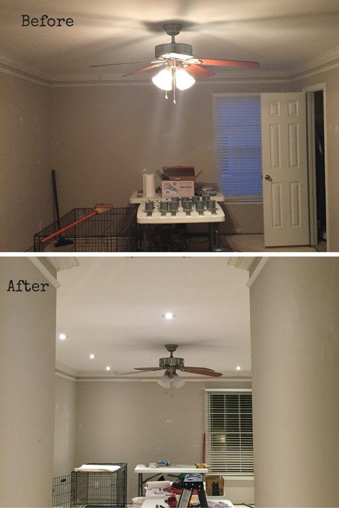 Bonus Room Makeover Recessed Lights Diy Projects
