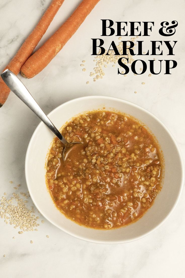 Beef and Barley Soup - Homestyle Hunny images