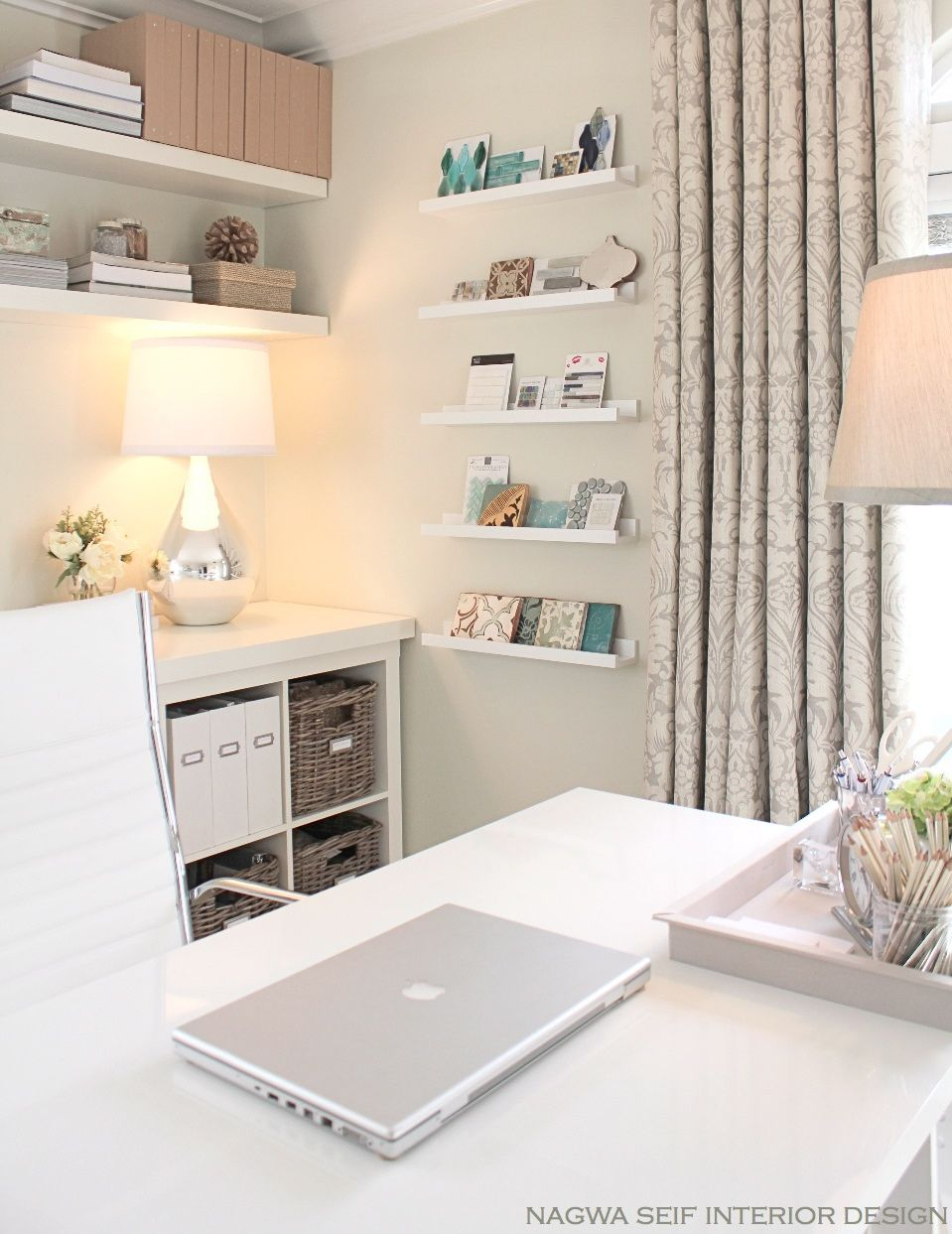 Office wall paint color is Benjamin Moore French Canvas. Beautiful ...
