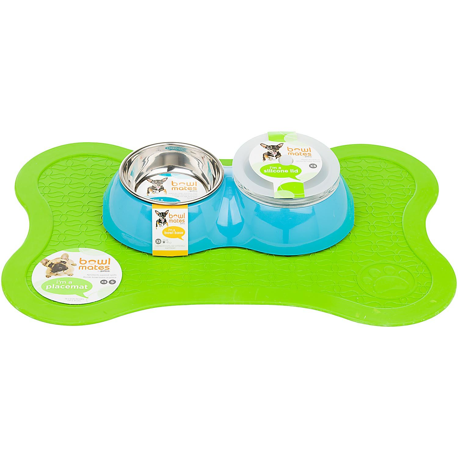 Bowlmates By Petco X Small Double Round Base Petco Puppy Love