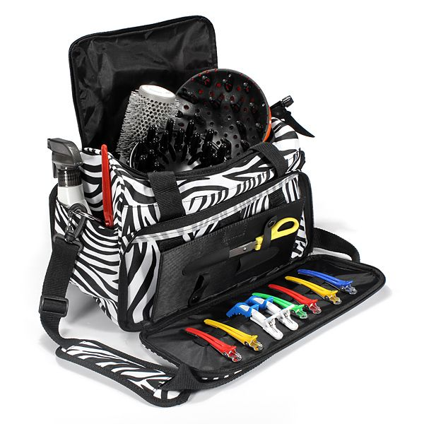 Salon Hair Tools Hairdressing Zebra Carry Case Der Duffle Bag ...
