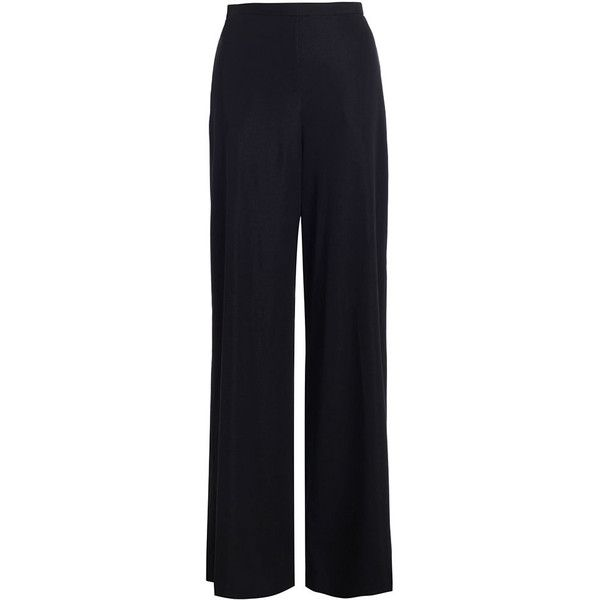 Zimmermann Silk Cotton Wide Leg Pant ($365) ❤ liked on Polyvore featuring pants, trousers, bottoms, cotton pants, blue high waisted pants, wide leg cotton pants, blue pants and high-waisted pants