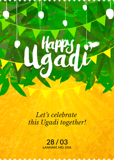 Ugadi Party in Mango Groves Online invitation card