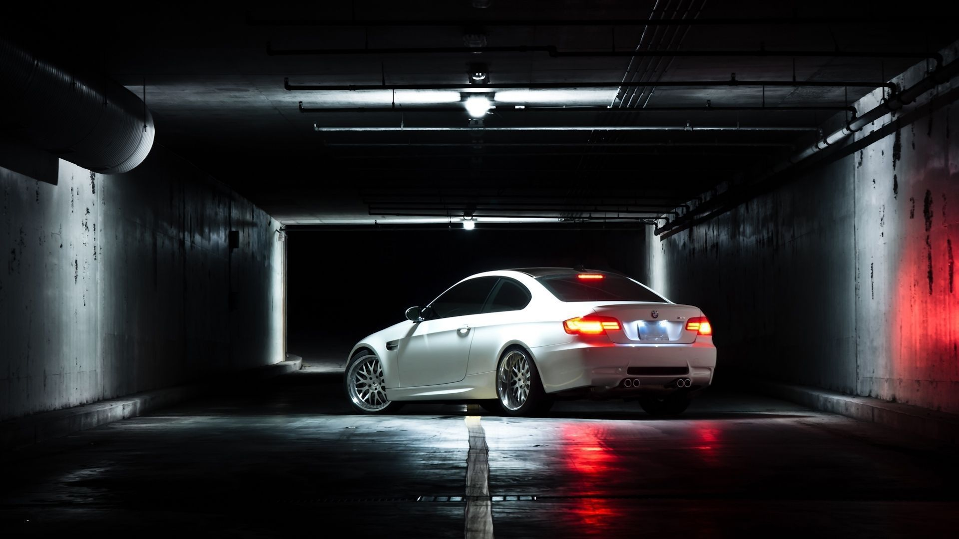 Bmw M3 E92 White BMW White Coupe Rear View Lights Reflection . Design Inspirations