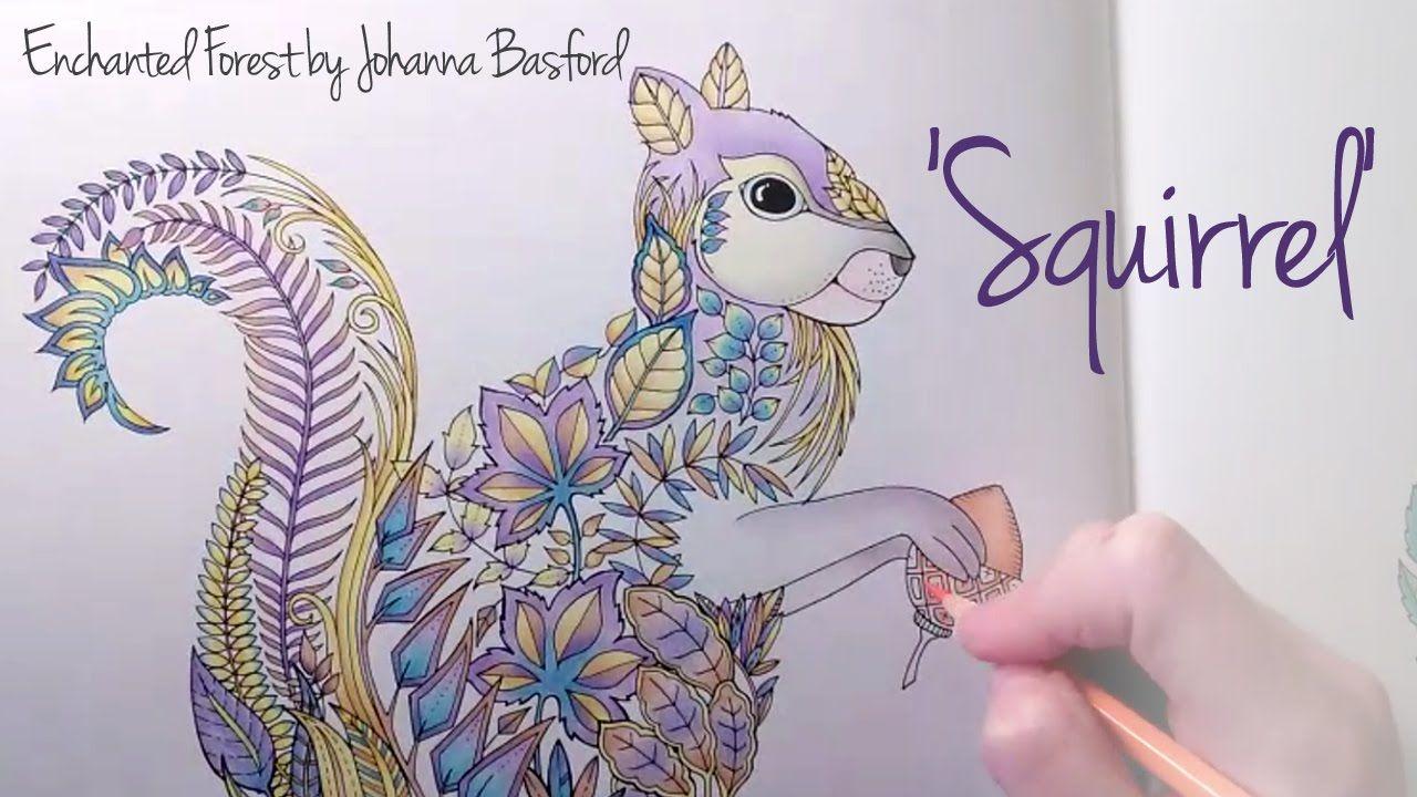 Zendoodle coloring enchanting gardens - Enchanted Forest Johanna Basford Squirrel