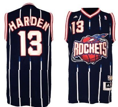 7602ac08d Houston Rockets #13 James Harden ABA Hardwood Classic Swingman Navy Blue  Jersey
