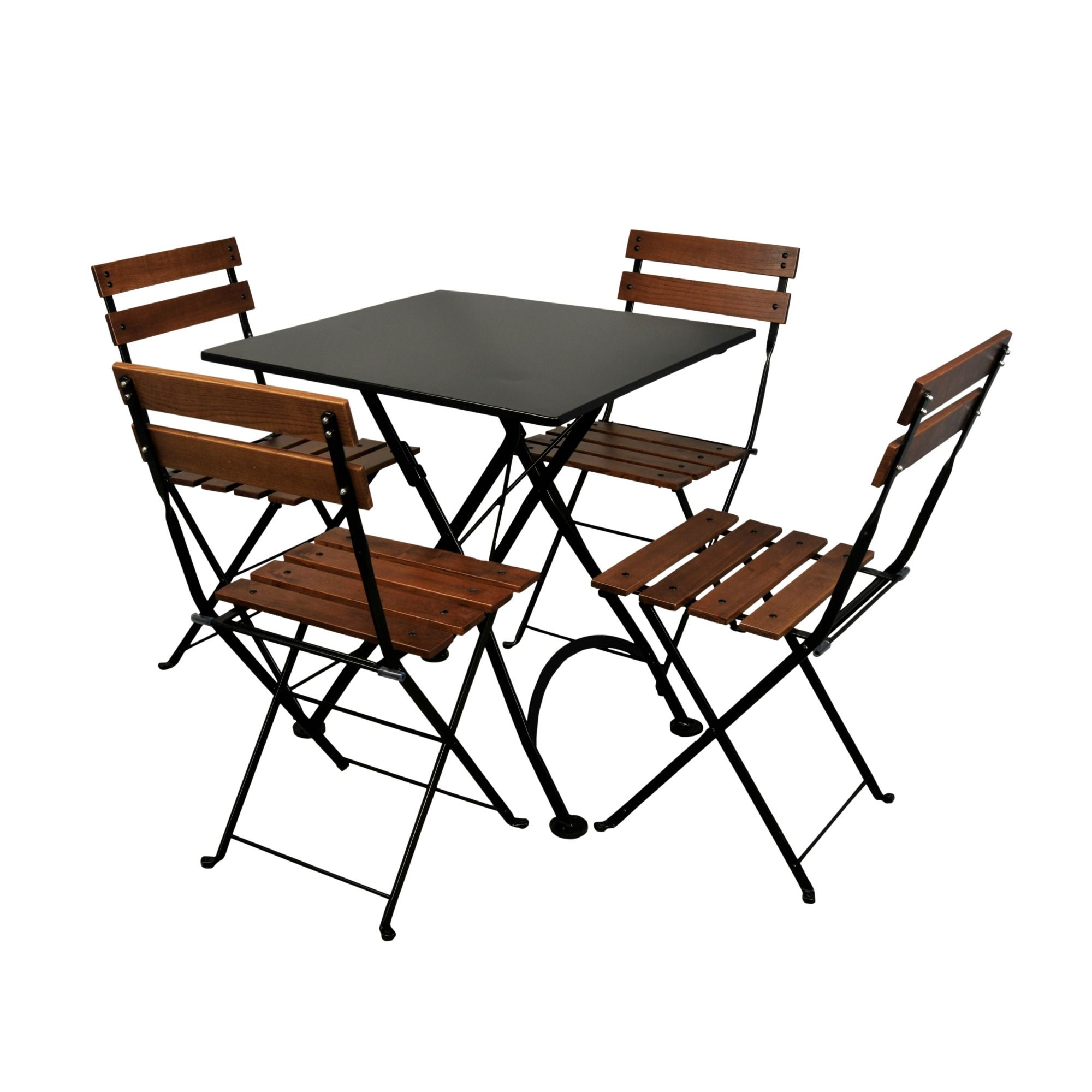 28x28 European Folding Steel Metal Bistro Table $392 80