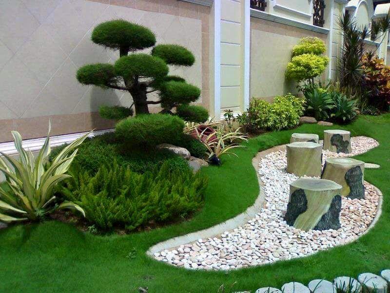 Ideas para jardines peque os con piedra jardines - Suelos para jardines pequenos ...