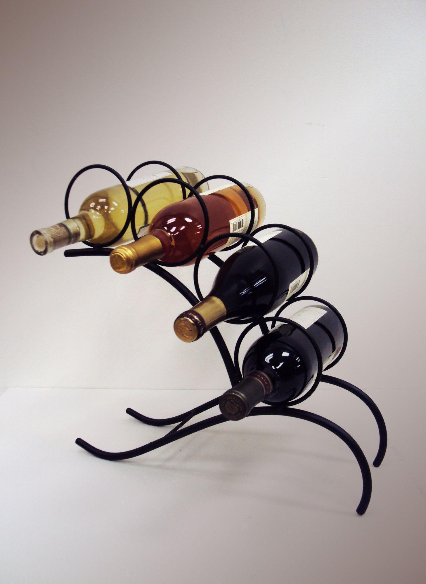 4 Bottle Tabletop Wine Bottle Rack Suportes Para Garrafas Decoração De Ferro Suportes Para Garrafas De Vinho