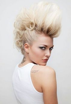 Mohawk Hairstyles For White Women Google Search Mohawk Hairstyles For Women Mohawk Hairstyles Hair Styles
