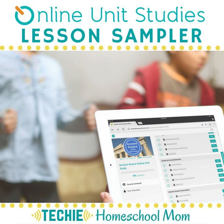 Five free homeschool lessons from Online Unit Studies ...