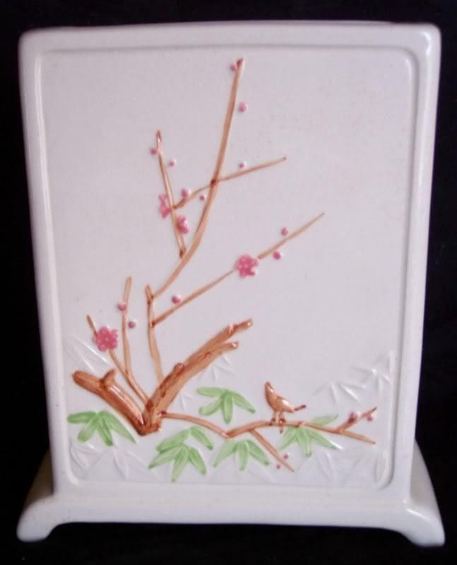 Vintage Rubens Planter Bookshelf Pocket Vase Geisha Bamboo - Made in Japan - MIJ