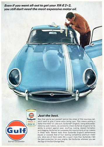 Gulf Motor Oil Advertising Hot Rod Magazine June 1967