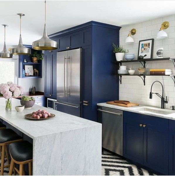 Pin by Darcy on kitchen remodel ideas   Blue kitchen ...