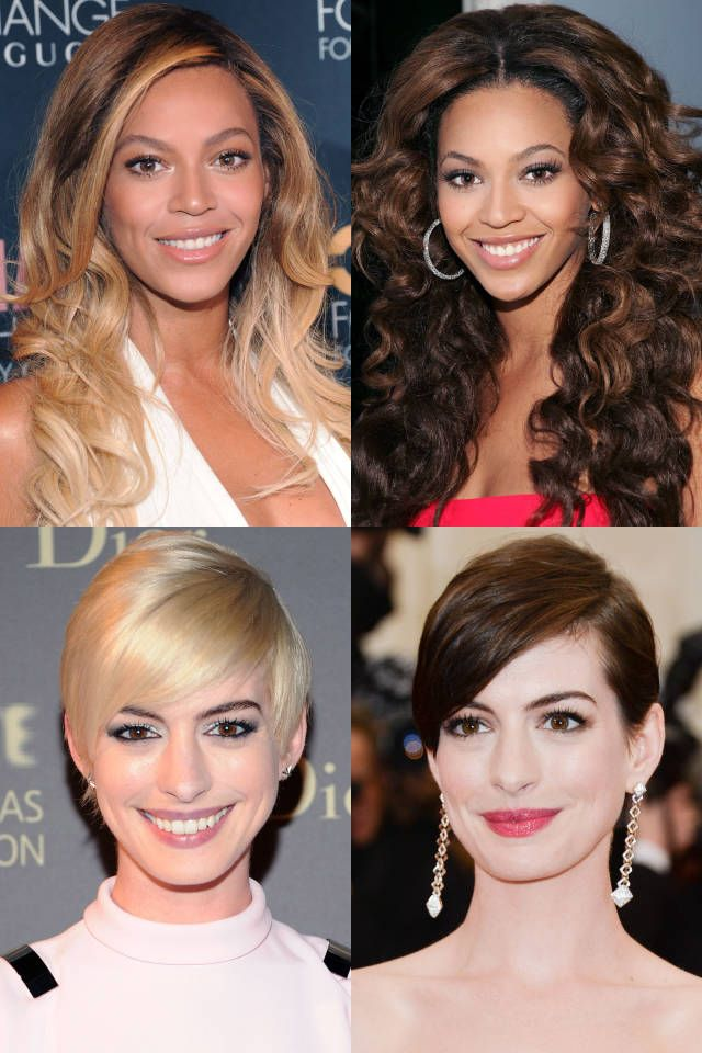 Celeb Hair Poll Blonde Or Brunette Blonde Vs Brunette Celebrity Hairstyles Brunette To Blonde