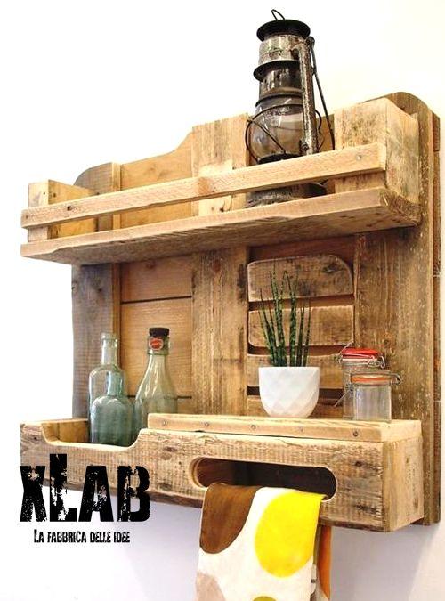 Mensola pallet da cucina eco design e riutilizzo | Pallets, Woods ...