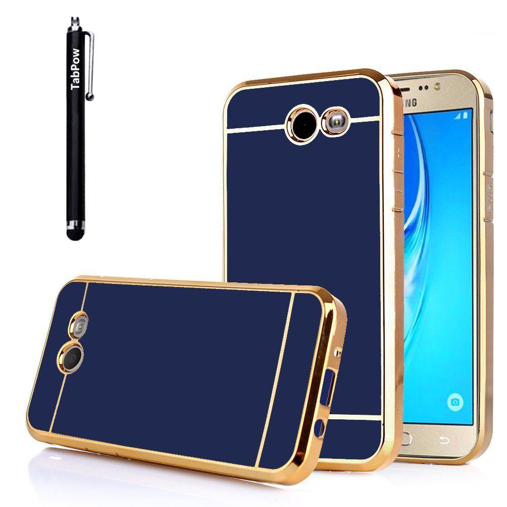 Amazoncom Tabpow Galaxy J7 Prime 2017 Case Electroplate Slim Softcase Thin Droff Matte Black J5 Glossy Finish