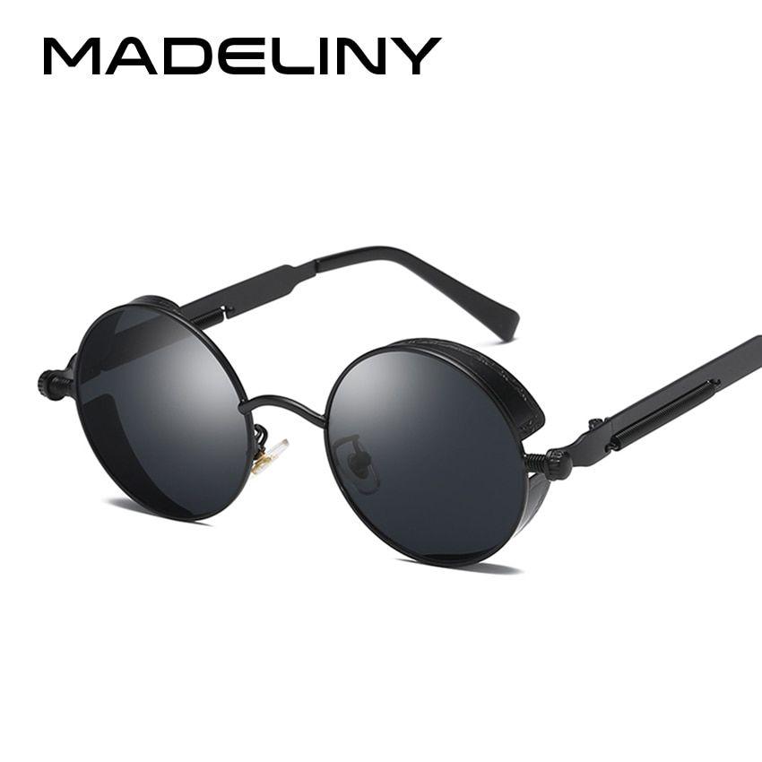 f58e3de50212 MADELINY NEW Fashion Round Sunglasses Women Brand Designer Metal Frame  Steampunk Vintage Sun Glasses Men Female