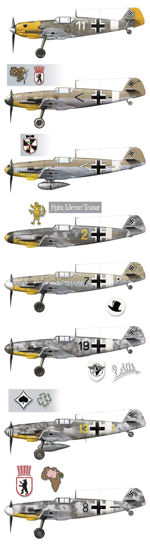 Messerschmitt Bf-109 | segunda guerra mundial | Pinterest | Avión ...