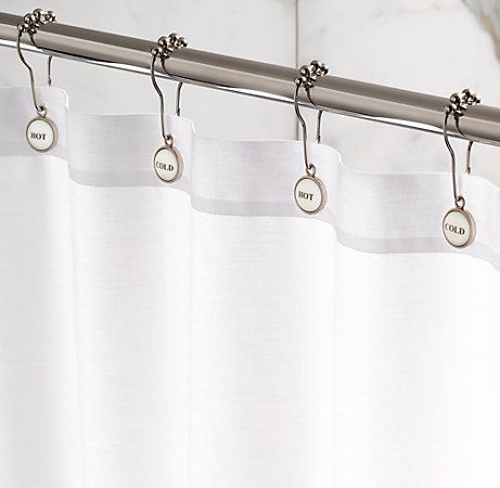 hot and cold shower rings adorable For the Bathroom Pinterest