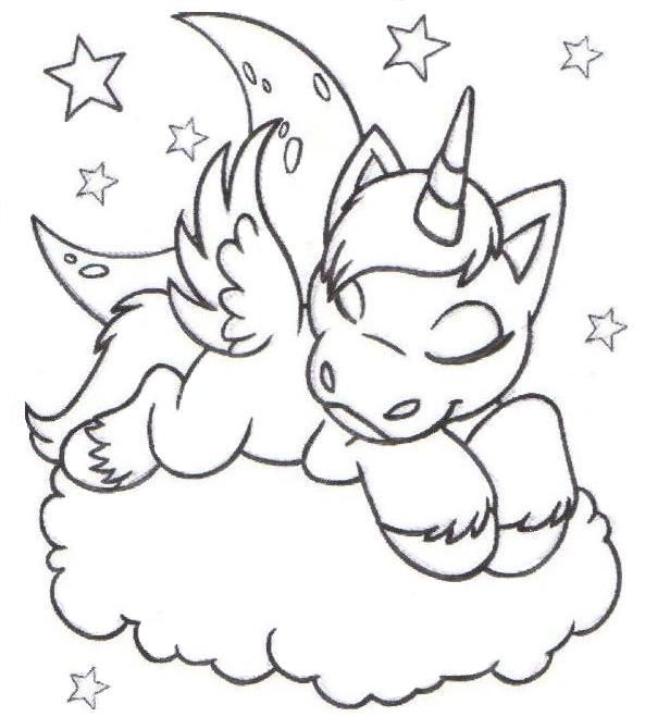 best Dibujos Para Colorear De Unicornios Bebes image collection