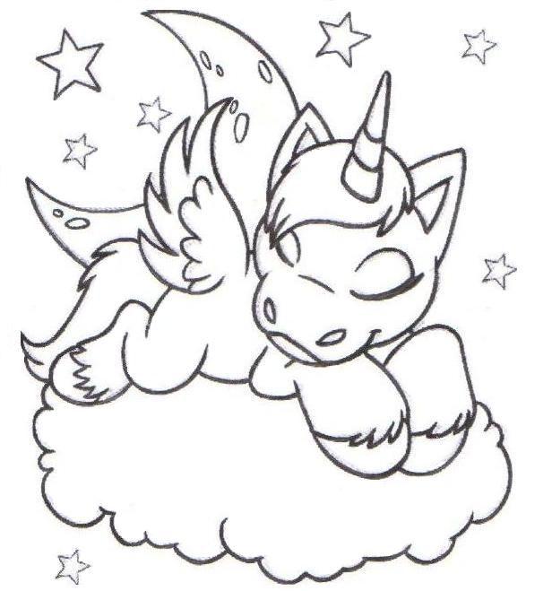 Desenhos Para Colorir Colorir Unicornio Com Imagens Desenhos