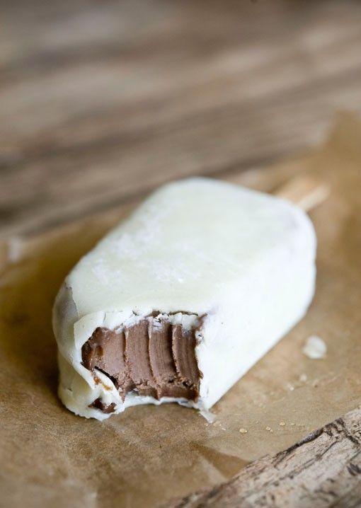 Coconut ice cream bar