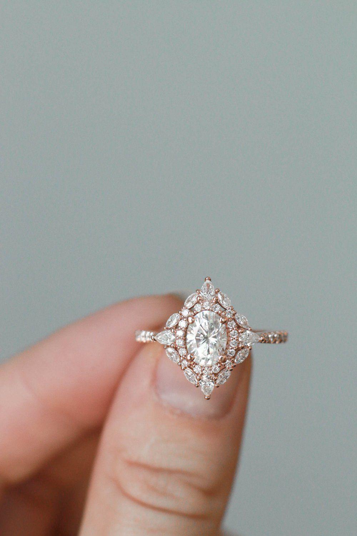Frances in 2020 Diamond wedding bands, Deco engagement