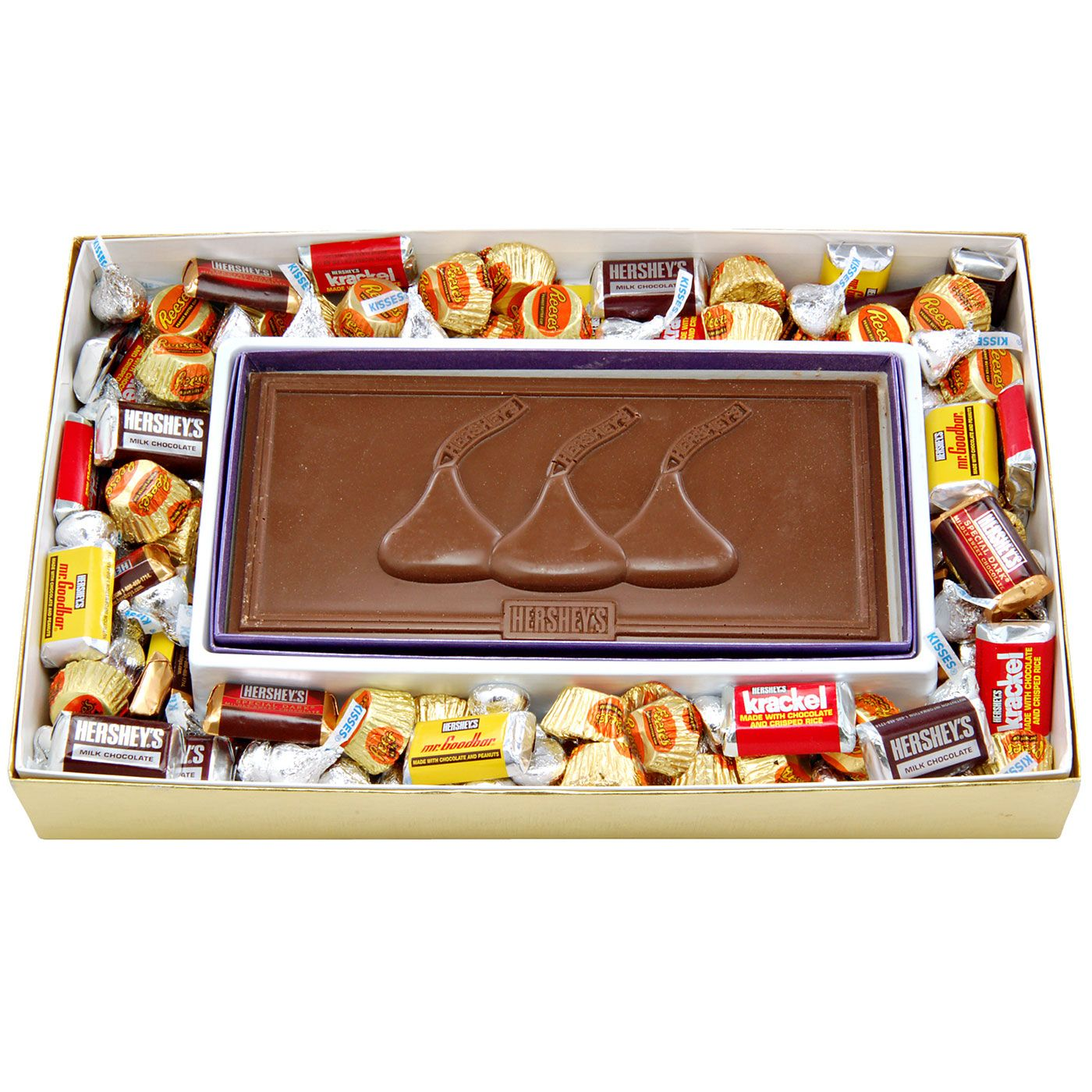 Kisses Chocolate Card with Assorted Hershey's Miniatures Gift Box ...