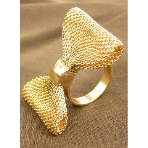 Fashion Gold Bow Ring Price BD 4 500