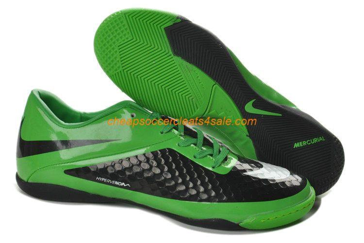 38d01c9b89a Nike Hypervenom Phelon IC Indoor Boots For Sale Green Black