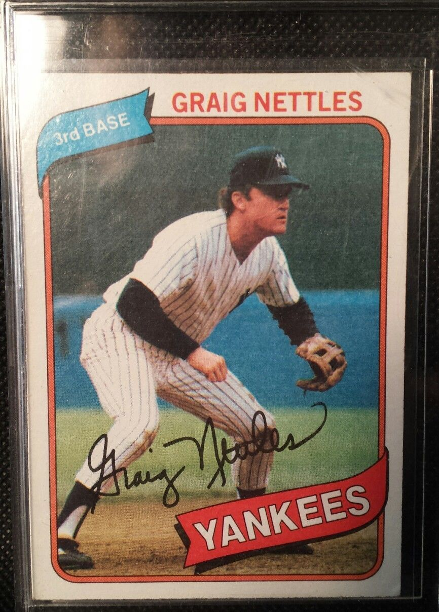 1980 Topps Graig Nettles New York Yankees 710 Baseball