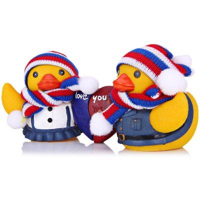 $10.05 (Buy here: http://appdeal.ru/awxi ) Christmas Decoration Festival Gift Lovely Couple Duck with Hat Scarf for just $10.05