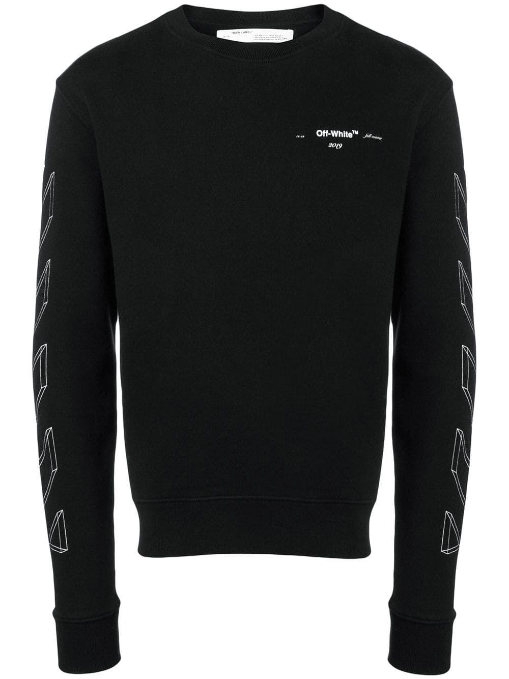 Off White Diag 3d Carryover Crewneck In Black White Modesens Printed Sweatshirts Sweatshirts Black Sweatshirts [ 1334 x 1000 Pixel ]