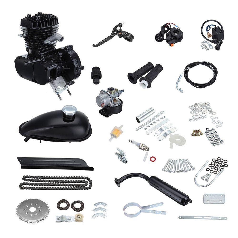2-Takt 50CC Motorisierte Motor Benzin Gas Moteur Fahrrad Hilfsmotor Bike Engine