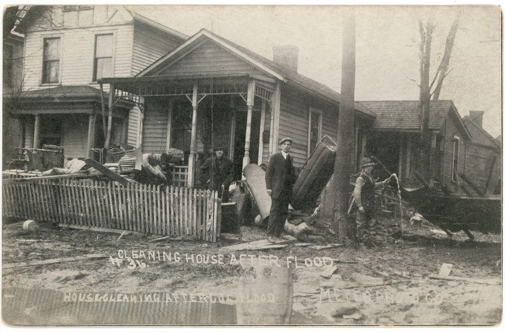 Antique Postcard 1913 Columbus Ohio OH Flood People