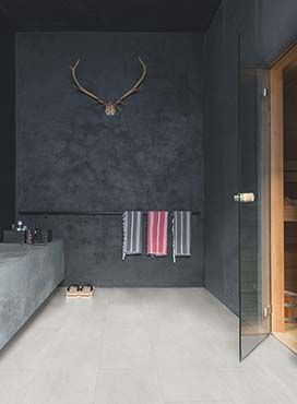 Lichte vloer, donker plafond en donkere wanden | Badkamer ...