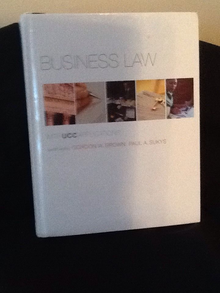 Business Law With Ucc Applications By Gordon W Brown 0073524948