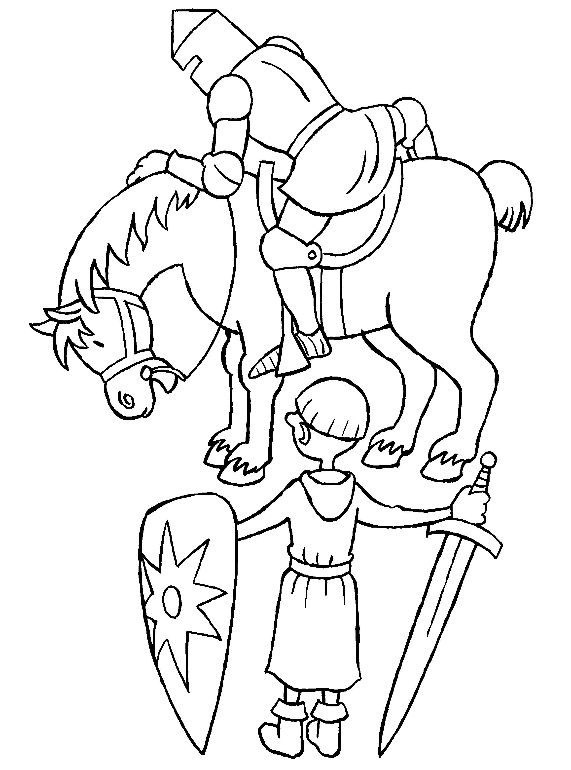 een ridder en zijn schildknaap edad castillos