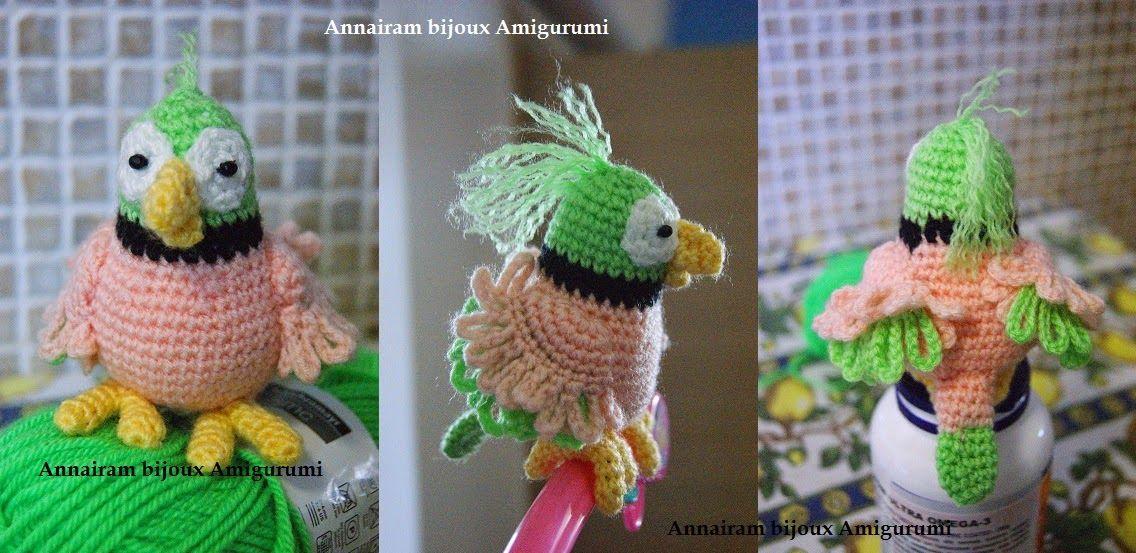 AnnAiraM Bijoux Amigurumi: Pattern - PAPPAGALLO LINO   crochet toys ...