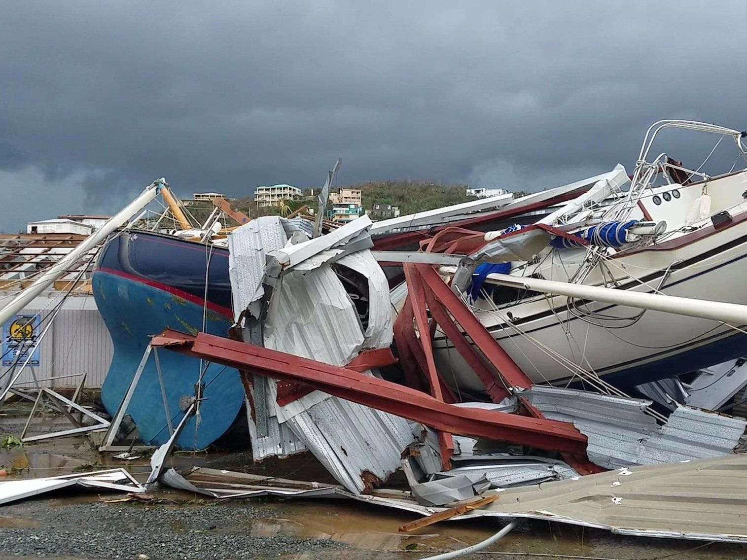 Hurricane Irma Damage In Us Virgin Islands Leaves Residents Fearful Path Of Destruction National Hurricane Center Caribbean