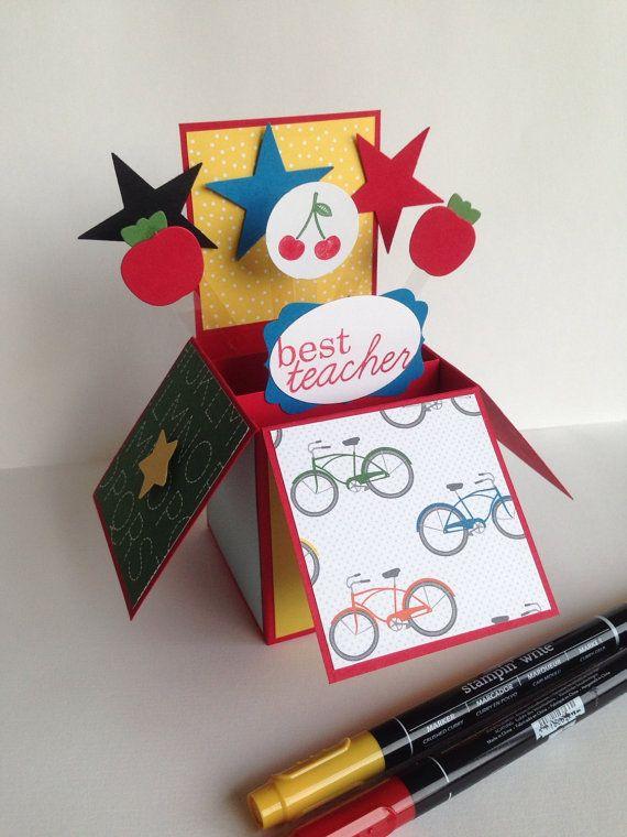 teacher thank you card in a box teacher happy birthday